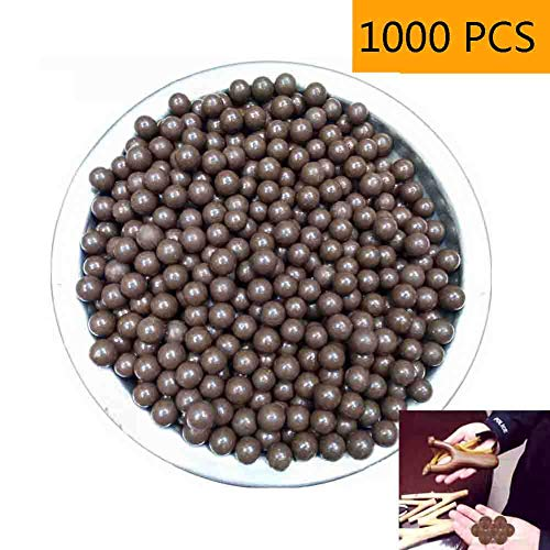 NIDAYE Fabcell Slingshot Ammo Balls – 1000pcs 3/8 Inch (About 9mm) Hard Clay Slingshot ()