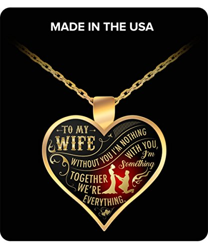 The Perfect Gift! - NECKLACE I LOVE MY WIFE Best wedding anniversary gift, Annual day gift, wedding gift, birthday gift for wife, wife gifts, Girlfriend gifts