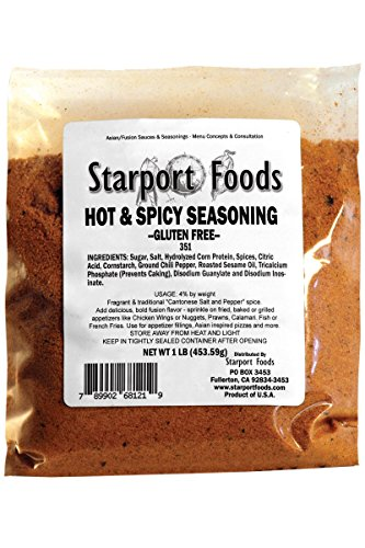 Starport Foods Hot and Spicy Seasoning - Gluten Free, 2 x 1 lb bag by Starport Foods
