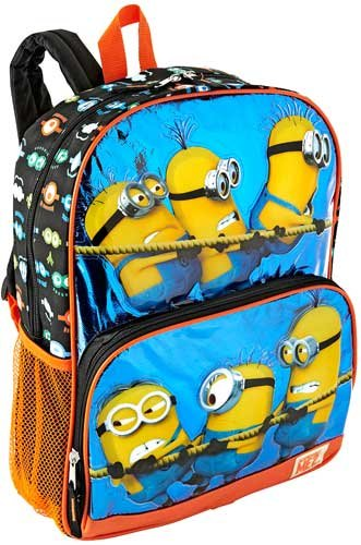 Amazon.com: Despicable Me 2 Hey Hey Hey Minion Backpack Black/Blue ...