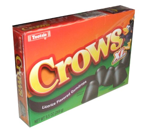 Tootsie Roll Industries Crows Licorice Flavored Gumdrops 7.5 Ounce Boxes (Pack of 6) Crows Licorice