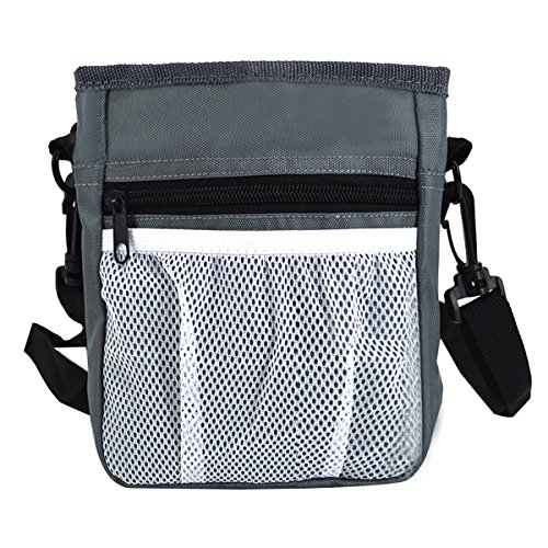 YAOSEN Pet Dog Treat Pouch Training Bag Walking Waist Bag with Belt Clip (Grey) (Best Treat Bags For Dogs)