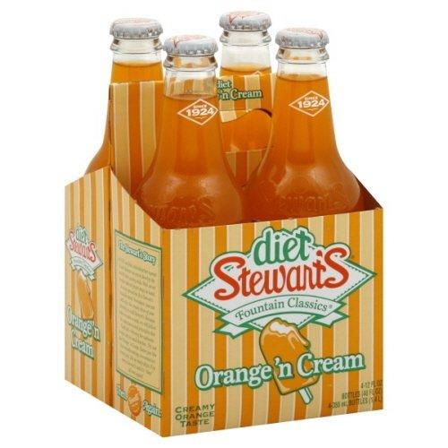 - Stewart's Diet Orange Cream Soda, 12 Ounce (8 Glass Bottles)