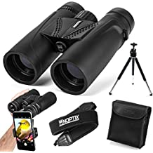Binoculars 10x42   Compact and Lightweight   Best for Adults, Bird Watching, Sports Events, Concerts, Safari, or Hunting – Includes Smart Phone Adapter, Tripod, Neck Strap, Case, and Cleaning Cloth