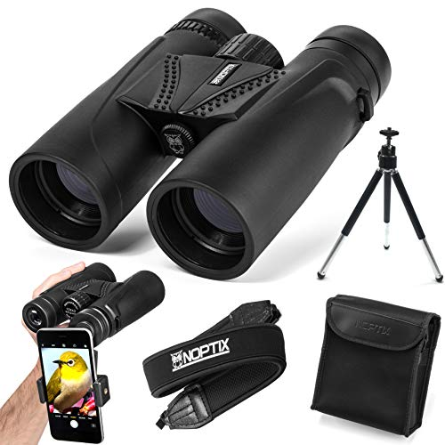 Binoculars 10x42 | Compact and Lightweight | Best for Adults, Bird Watching, Sports Events, Concerts, Safari, or Hunting - Includes Smart Phone Adapter, Tripod, Neck Strap, Case, and Cleaning Cloth