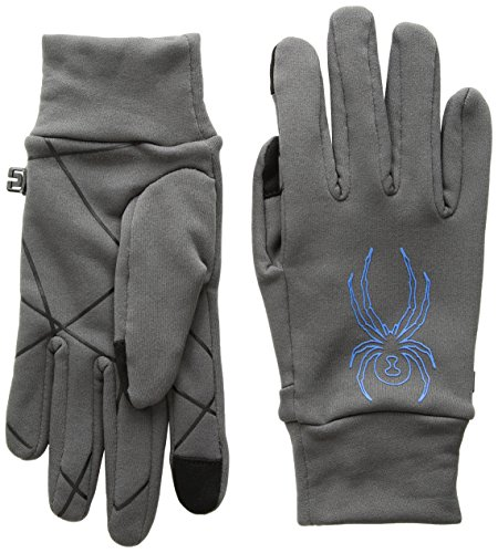 Polar Fleece Glove Liners (Spyder Men's Stretch Fleece Conduct Glove , Polar/French Blue, X-Large)