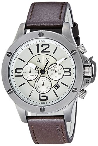 Armani-Exchange-Mens-AX1519-Brown-Leather-Watch