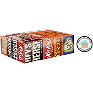 HERSHEY'S Chocolate Candy Bar Variety Pack, Reese's, Kit Kat 30 Count