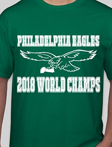 Eagles Super Bowl Champions T-Shirt - logo with trophy Bowl Trophy