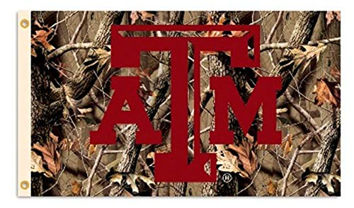 - Texas A&M Aggies CAMO Realtree 3x5 Flag Outdoor House Banner University of