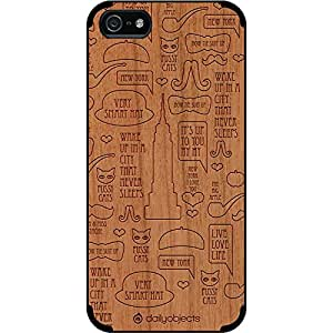 DailyObjects New York Real Wood Cherry Case For iPhone 5/5S