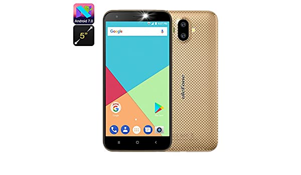 Ulefone S7 Android Smartphone Quad-Core CPU Dual-IMEI 5-Inch Display 3G Gold: Amazon.es: Electrónica