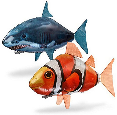 Enjoy Air Swimmers Remote Control Flying Shark Or Clownfish Official Bundle (Air Swimmers Clown Fish compare prices)