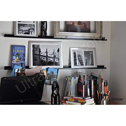t Display/Picture Ledge/Floating Shelf, Metal, Modern (2