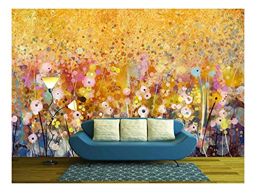 wall26 - Watercolor Red Poppy Flowers Painting - Removable Wall Mural   Self-adhesive Large Wallpaper - 66x96 - Mini Mural Wallpaper Mural