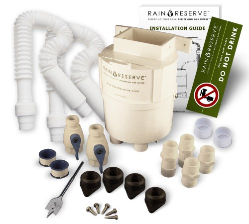 RainReserve 2012304 Rain Barrel Complete Diverter Kit double capacity (Barrel Not Included)