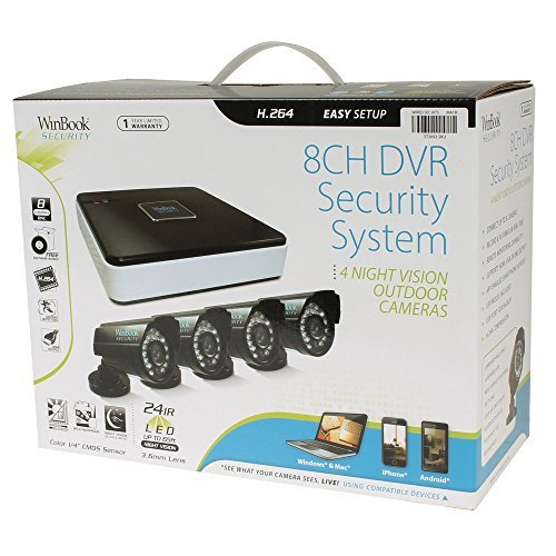 WinBook Security 8 Channel Digital Video Recorder DVR with 4