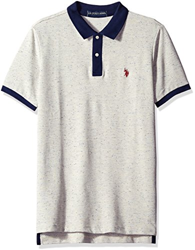 U.S. Polo Assn. Men's Short Sleeve Fleck Pique Shirt