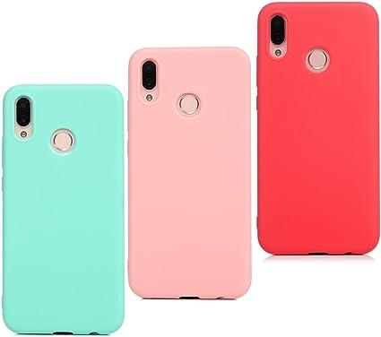 LANVY 3X Cover per Huawei P20 Lite, Custodia Silicone Ultra Sottile Antiscivolo Antiurto Slim Bumper Gomma Case per Huawei P20 Lite Cover, Verde Menta ...