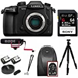 Panasonic GH5 Lumix 4K Mirrorless, 20.3 MP, Wi-Fi + Bluetooth,3.2 LCD w/VideoMic Go Deluxe Pro Bundle