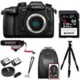Panasonic GH5 Lumix 4K Mirrorless, 20.3 MP, Wi-Fi + Bluetooth,3.2″ LCD w/VideoMic Go Deluxe Pro Bundle