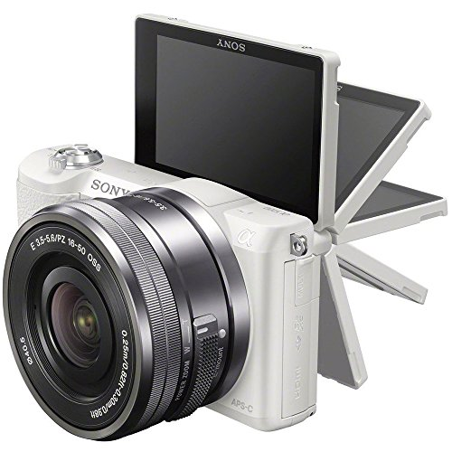51fXpHitCmL - Sony Alpha a5100 HD 1080p Mirrorless Digital Camera White + 16-50mm Lens Kit + 32GB Accessory Bundle + DSLR Photo Bag + Extra Battery + Wide Angle Lens + 2x Telephoto Lens + Flash + Remote + Tripod