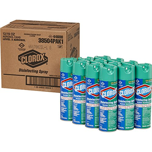 (Clorox Disinfecting Spray, Fresh Scent, Commercial Solution, 19-Ounce Bottles, Case of 12 (228 Ounces) )