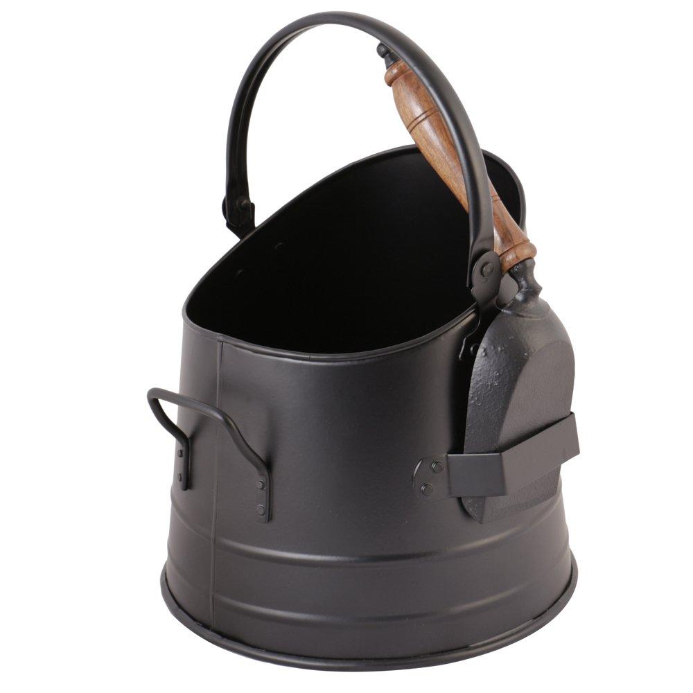 Black Coal Scuttle Bucket with Shovel Dibor