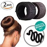 Create a perfectly shaped sexy hair bun using our KroO Magic Hair Bun Maker for this trendy and polished look. You can also create a looser, more casual donut using a couple of hair bands. In a few easy steps you can style a beautiful donut b...