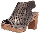 Dansko Women's Danae Heeled Sandal, Pewter Nappa, 38 M EU (7.5-8 US)