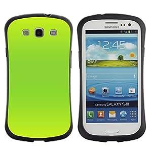 """Hypernova Slim Fit Dual Barniz Protector Caso Case Funda Para SAMSUNG Galaxy S3 III / i9300 / i747 [Vibrante verde de neón de color brillante""""]"""