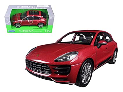 Porsche Macan Turbo Red 1/24 Model Car by Welly