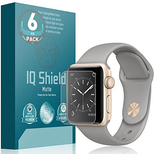 Apple Watch Series 2 Screen Protector (38mm) (6-Pack), IQ Shield Matte Full Coverage Anti-Glare Screen Protector for Apple Watch Series 2 Bubble-Free Film - with