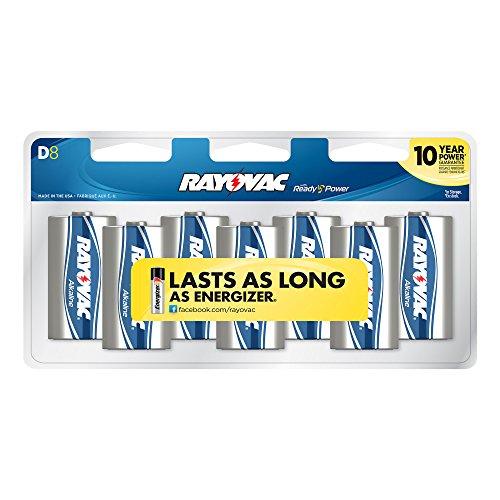 Rayovac Alkaline Batteries 813 8CF 8 Pack