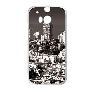 HTC One M8 Cell Phone Case White nob hill san francisco 20 JSK801418