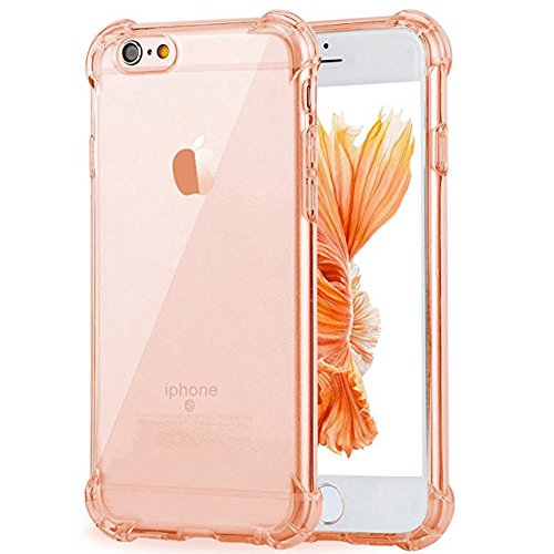 iPhone 6 Plus Case, iPhone 6S Plus Case, Ibarbe Slim Clear TPU Protective Heavy Duty Case Fit for Apple iPhone 6 Plus (2014) / 6S Plus(2015) 5.5 inch Pink