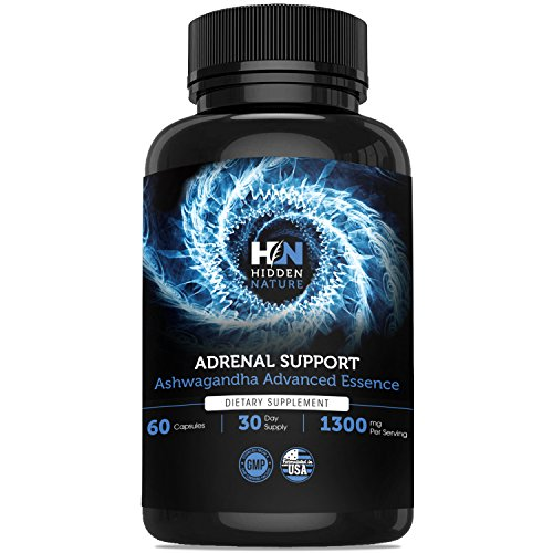 Adrenal Support & Cortisol Manager, 1300 mg, Best Adrenal Fatigue Supplements with Adaptogenic Herbs Ashwagandha Rhodiola Rosea, Licorice Root Providing Anxiety Relief, Calm & Adrenal Health