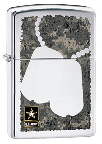 - Zippo US Army Dog Tags High Polish Chrome Pocket Lighter