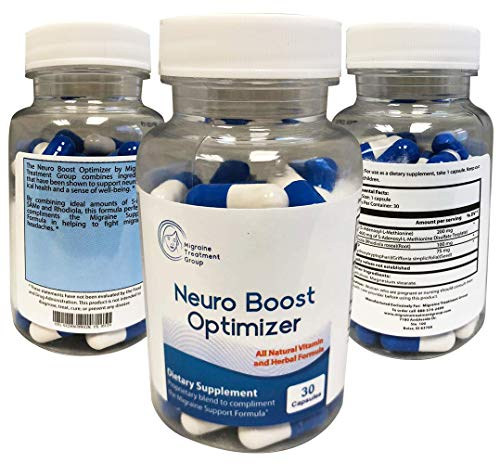 Migraine Support Group: Neuro Boost Optimizer - Advanced Migraine Relief - 30 Capsules - Helps Elevate Mood and Energy Levels, Provides A Natural Brain Boost, Helps Relieve Stress