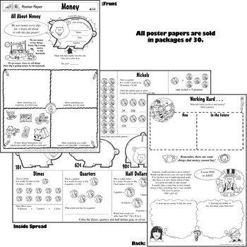 Teaching & Learning Company: Money Poster Papers, Grades 1-3