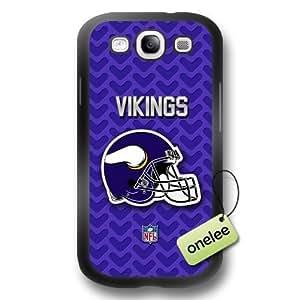 NFL Minnesota Vikings Team Logo Samsung Galaxy S3(i9300) Black Rubber(PC) Soft Case Cover - Black WANGJING JINDA