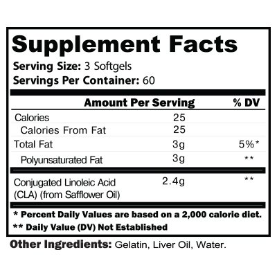 CTD Sports CLA (Conjugated Linoleic Acid) 180 ct, Highest Potency Natural Weightloss Supplement. Anti-Catabolic Fat Loss