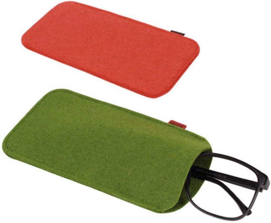 ICYANG 5 Pcs Soft Felt Cloth Sunglasses Eyeglasses Bag Reading Glasses Travel Storage Pouch Sleeves Case Makeup Box Pen Holder Eyewear Accessories Portable