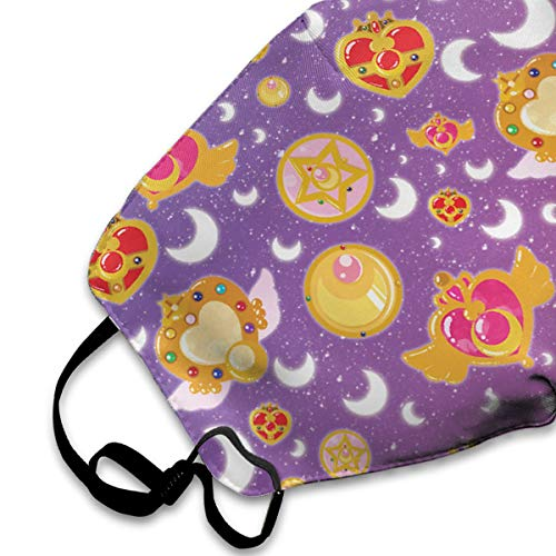 BLongTai Mouth Cover Mask Sailor Moon Background Pattern Fashion Anti Dust Half Face Masks