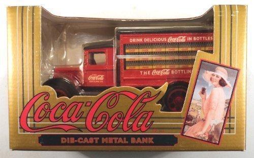 Coca-Cola Vintage Red Bottle Truck Coin Bank