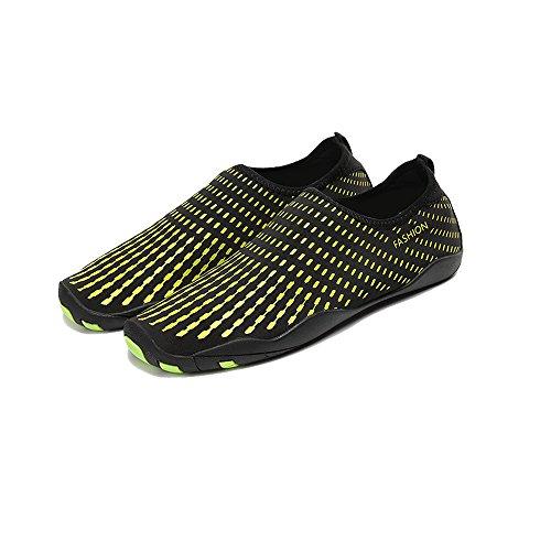 YIRUIYA Frauen Männer Quick-Dry Barfuß Wasser Schuhe Haut Aqua Socken Mit Entwässerung Löcher ¡ Gelb