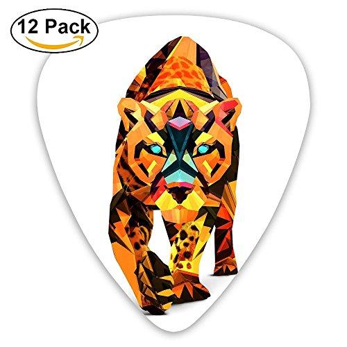 12-pack Fashion Classic Electric Guitar Picks Plectrums Color Tiger Art Instrument Standard Bass Guitarist ()