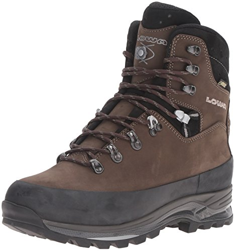 Lowa Men's Tibet GTX Trekking Boot,Sepia/Black,12 M US