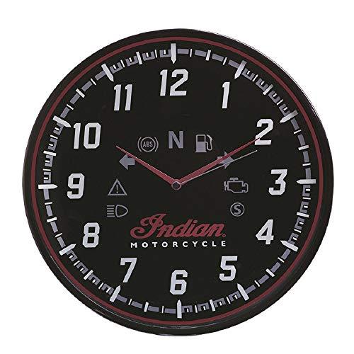 Indian Motorcycle Bobber Wall Clock - Black