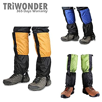 Triwonder 1 Pair Unisex Outdoor Snow Leg Gaiters Leggings Cover Waterproof Snowproof Anti-tear for Hiking Walking Climbing Hunting